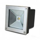 Spot LED Encastrable Sol Carré Inox 304 5W 3000K - image - Vision-EL
