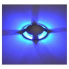 Spot LED Balise Bleu Rond 4 diffuseurs 1W - Vision-EL - 70781