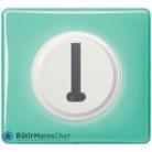 Prise téléphone en T Céliane blanc - Plaque 50's turquoise