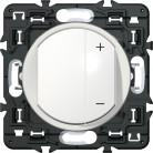 Inter variateur 300W à griffe - Blanc