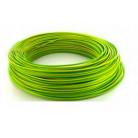 Fil H07VU 2.5mm² Vert / jaune en 100m - FIL001005 - Bâtir Moins Cher