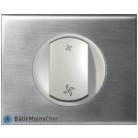 Interrupteur de VMC Céliane titane - Plaque Inox brossé
