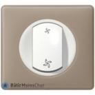 Interrupteur VMC Céliane blanc - Plaque Grès