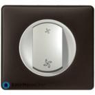 Interrupteur pour VMC Céliane titane - Plaque Basalte