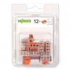 Boîte de 12 bornes Wago universelles 3 entrées - Série 221 - 221-413-996-012