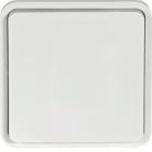 Bouton poussoir blanc associable Cubyko