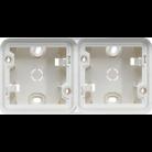 Boîte en saillie 2 postes horizontale Cubyko blanc