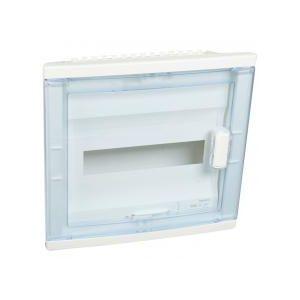 Coffret encastré 1 rangée porte transparente