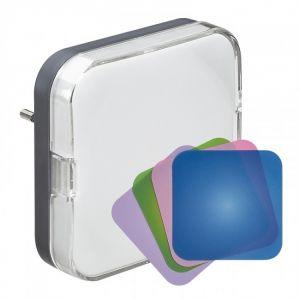 Veilleuse crépusculaire à LED + 4 filtres couleur