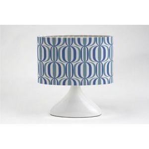 Lampe céramique, abj motifs bleux