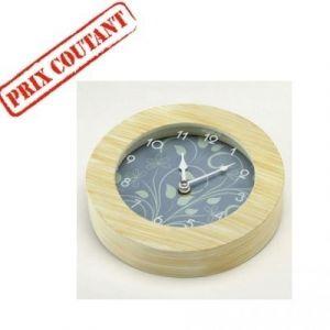 Horloge ronde Bois rythm