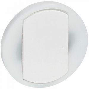 Enjoliveur large Céliane pour interrupteur, va-et-vient ou poussoir lumineux - Blanc