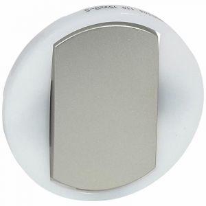 Enjoliveur large Céliane pour interrupteur , va-et-vient ou poussoir lumineux - finition titane