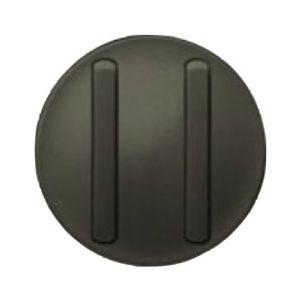 Enjoliveur double interrupteur doigt étroit - Graphite