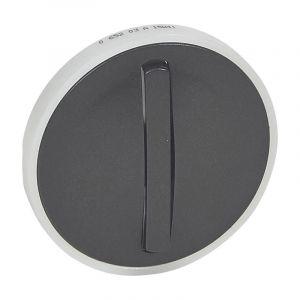 Enjoliveur étroit Céliane pour interrupteur , va-et-vient ou poussoir lumineux - finition graphite
