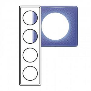 Plaque 4 postes Céliane 90's violet