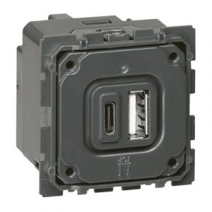 Module de charge double USB Céliane typeA et typeC 3A