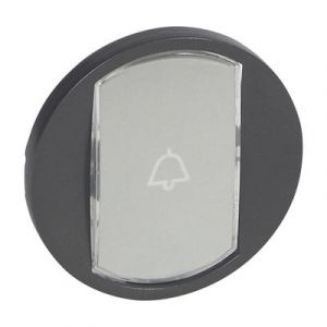 Enjoliveur interrupteur porte-étiquette - Graphite