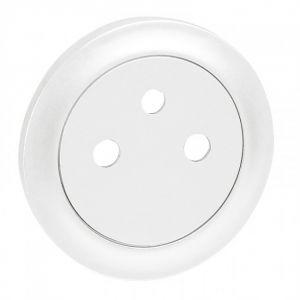 Enjoliveur prise 2P+T Surface - Blanc
