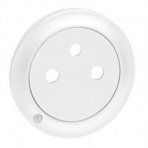 Enjoliveur de prise Surface à voyant - Blanc