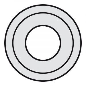 Enjoliveur Céliane pour prise XLR femelle - finition titane