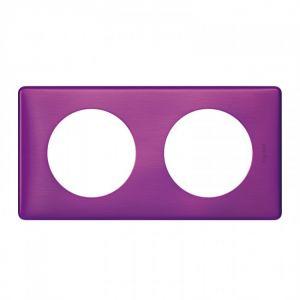 Plaque 2 postes Céliane Violet irisé