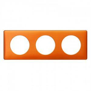 Plaque 3 postes Céliane Orange Snake