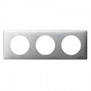Plaque 3 postes Céliane Aluminium