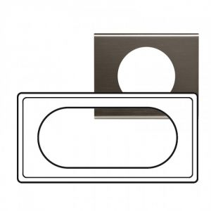 Plaque 4/5 modules Céliane Black Nickel