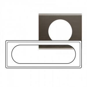 Plaque 6/8 modules Céliane Black Nickel