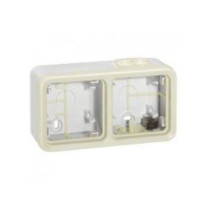 Boitier Plexo 2 postes horizontal - Blanc - 069690 - Legrand