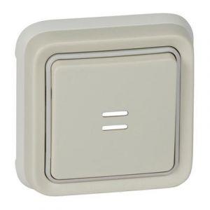 Poussoir Plexo complet encastré - Blanc 069861 Legrand
