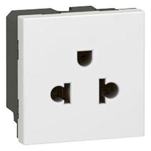 Prise de courant 2P+T à puits euro-US Mosaic 2 modules - blanc