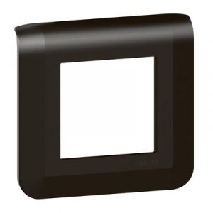 Plaque de finition Mosaic pour 2 modules noir mat