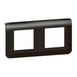 Plaque de finition horizontale Mosaic pour 2x2 modules noir mat