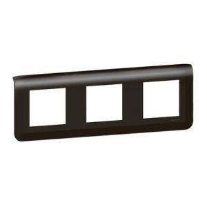 Plaque de finition horizontale Mosaic pour 3x2 modules noir mat