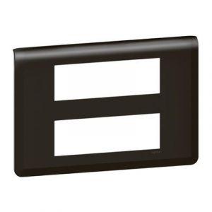 Plaque de finition Mosaic pour 2x6 modules noir mat