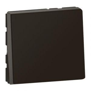 Interrupteur ou va-et-vient 10AX 250V~ Mosaic Easy-Led 2 modules – noir mat