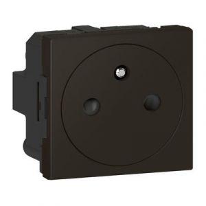 Prise de courant 2P+T Surface Mosaic 2 modules avec connexion par bornes automatiques - noir mat