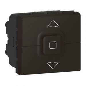 Interrupteur de volets roulants 500W maximum Mosaic 2 modules – noir mat