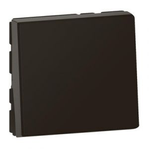 Poussoir ou poussoir inverseur Mosaic Easy-Led 6A 250V~ 2 modules - noir mat