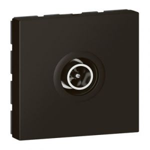 Prise télévision Ø9,52mm mâle Mosaic 2 modules – noir mat