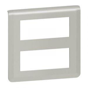 Plaque de finition Mosaic pour 2x5 modules alu