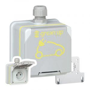 Prise saillie étanche Green'up Access pour véhicule électrique - Modes 1 ou 2 - IP66 IK08 - 16A 230V