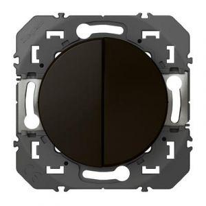 Interrupteur ou va-et-vient 10+ bouton poussoir 6AX  dooxie finition Noir