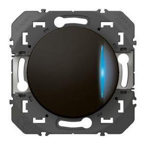 Poussoir simple avec voyant lumineux dooxie 6A 250V~ finition Noir