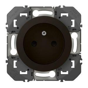 Prise de courant 2P+T à puits dooxie 16A finition Noir