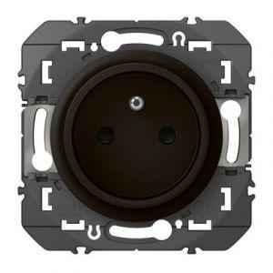 Prise de courant easyréno 2P+T faible profondeur dooxie 16A finition Noir