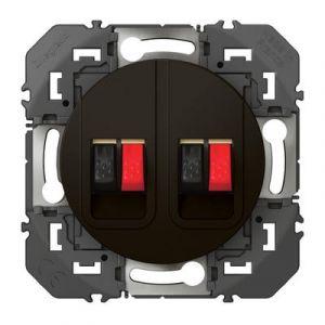 Prise haut-parleur double dooxie finition Noir