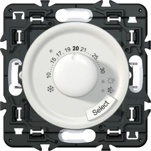 Thermostat fil pilote Céliane blanc